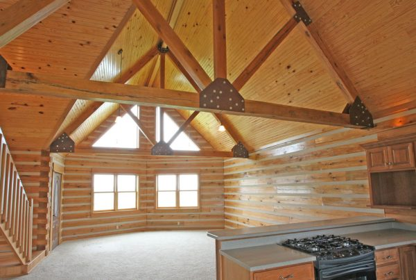 For a Log Home, Nothing is Better Than Oak!