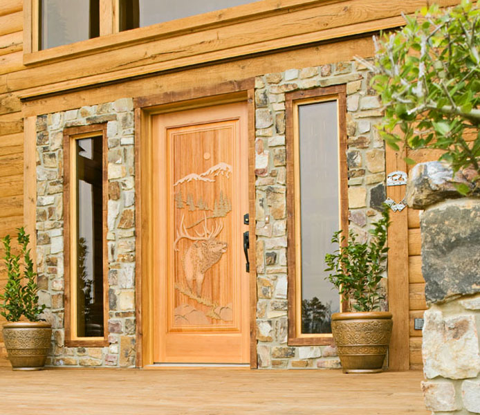 Choose the Perfect Exterior Doors for Your Dream Log Home