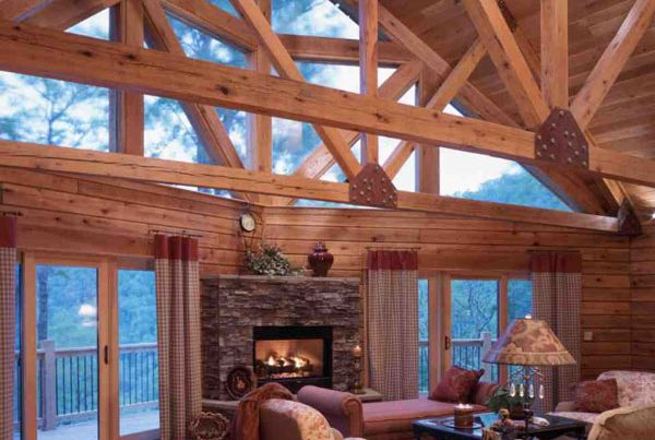 Many Choices of Windows to Enhance Your New Log Home