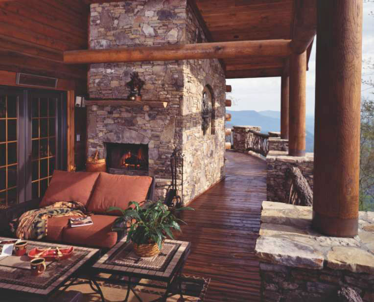 A Porch is the Most Popular Amenity among Log Home Owners